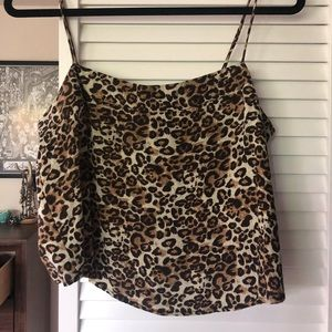 Kendall and Kylie cheetah tank top